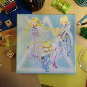 Canvas, Meisje, Zodiac, Libra, Weegschaal, Gemini, Tweeling, Aquarius, Waterman