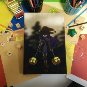 Canvas, Meisje, Halloween, Pompoen
