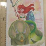 Canvas Prehistoric Mermaid