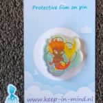 Acrylic Pin Fire Mermaid