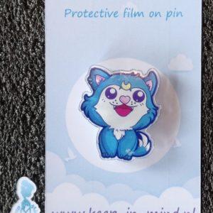 Acrylic Pin Kawaii Wolf